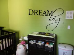 Dream Big Wall Decal - Dream Big Cursive Wall Decal - Inspirational Wall Decal