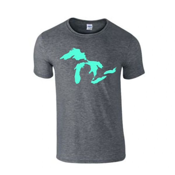 Great Lakes T-Shirt - Great Lakes - Michigan Shirt - Michigan Great Lakes - Michigan Pride - MADE IN THE USA!