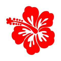 Hibiscus Flower Vinyl Car Decal