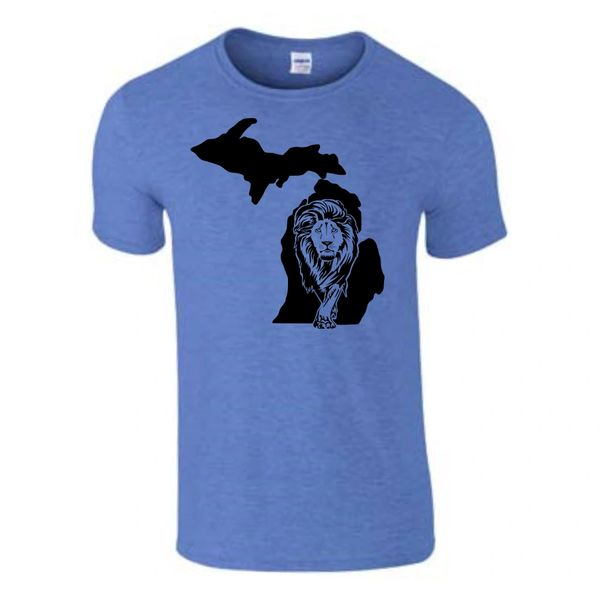 Michigan Lion T-Shirt - Lion Shirt - Michigan Shirt - Michigan Lions - Michigan Pride - Support the Lions - MADE IN THE USA!