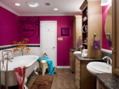 Bathroom Hang Sign Wall Decal - Bathroom Decal