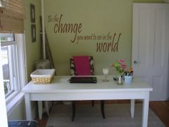 Be the change you want the world to see Wall Decal