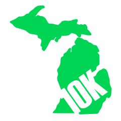 Michigan Run - MiRun - 10K Run - Running Decal