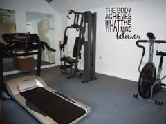 The body achieves what the mind believes Wall Decal