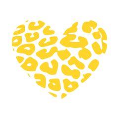 Cheetah Heart Vinyl Car Decal