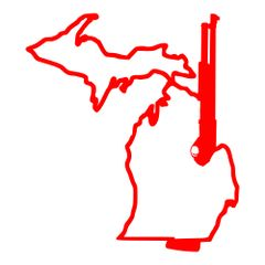 Michigan Gun 12 Gauge Vinyl Car Decal