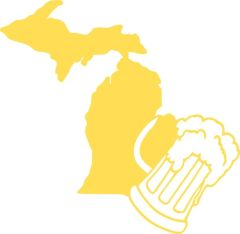 Michigan Beer Mug Vinyl Car Decal