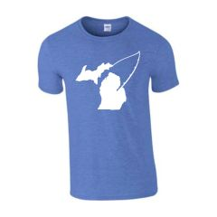 Michigan Fishing T-Shirt - Michigan Fishing - Michigan Shirt - Fish Michigan - Michigan Pride - MADE IN THE USA!