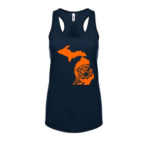 Michigan Tiger Women's Racerback Tank Top - Tigers Tank - Michigan Tank - Michigan Tigers - Michigan Pride - Support the Tigers - MADE IN THE USA!
