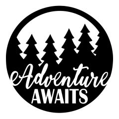 Adventure Awaits Decal - Adventure Decal - Seek Adventure - Travel Michigan - Travel Decal