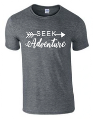 Seek Adventure T-Shirt - Seek Adventure Shirt - MADE IN THE USA!
