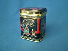 100 gram square tin Japanese picture