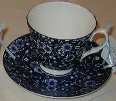 Blue Calico cup and saucer