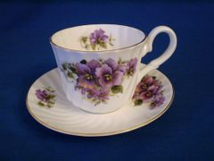Pansy Cup and Saucer Crown Victoria