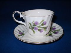 Bone Thistle Cup and Saucer