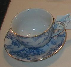 Promenade Toile Cup and saucer