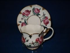 Pink Rose Cup and Saucer from Goebel