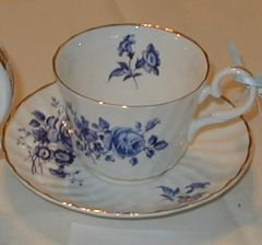 Blue Rose Cup and Saucer