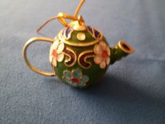 Mini Tea Pot Ornament Green