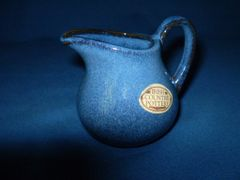 Irish Country Pottery Blue Creamer