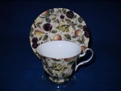 Fruit chintz cup and saucer