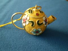 Mini Tea Pot Ornament Yellow