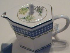 Gingham tea pot