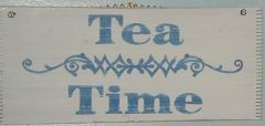 Tea time sign