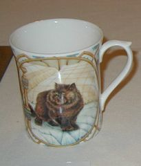 Brown cat mug