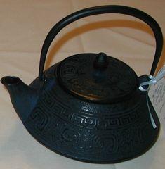 Cast iron round teapot