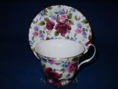 Victorian Rose Cup and Saucer