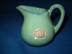 Irish Country Pottery Green creamer