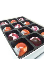 Luxury Rose and Violet Fondant Chocolates - Box of 12