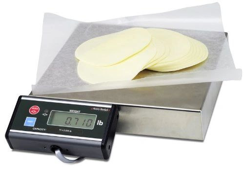 "Avery Berkel Scale 6710U 15kg x 0.005kg/15lb x 0.01lb/480oz x 0.2oz , 10""*10"", ext display, needs RS232 or USB cable"