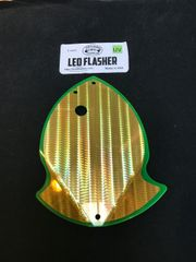 Large Leo Flasher 50/50 Gold SS on Clear