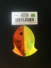 Small Leo Flasher Orange Frost / Chartreuse Frost
