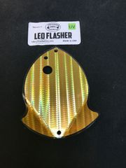Medium Leo Flasher Gold SS on Clear
