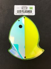 Large Leo Flasher Chartreuse Moon Jelly