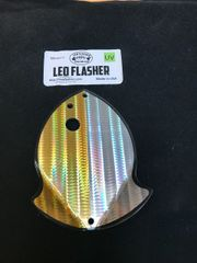 Medium Leo Flasher 50/50 Gold SS on Clear