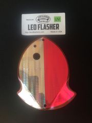 Medium Leo Flasher Silver Snake Skin on Pink