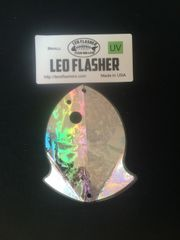 Small Leo Flasher Silver Frost
