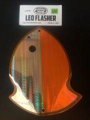 Large Leo Flasher Silver Snakeskin on Orange