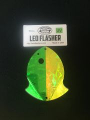 Small Leo Flasher Green Frost / Chartreuse Frost