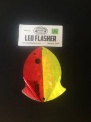 Small Leo Flasher Red Frost / Chartreuse Frost