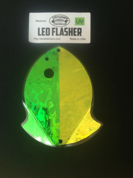 Medium Leo Flasher Green Frost / Chartreuse