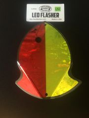 Large Leo Flasher Red Frost/Chartreuse frost