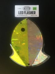 Large Leo Flasher UV Chartreuse/Silver Frost