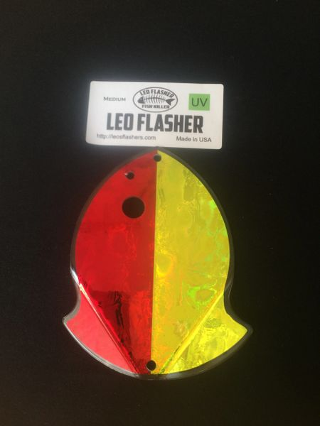Medium Leo Flasher Red Frost / Chartreuse Frost