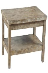 Distressed and aged looking nightstand.