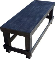 Bench Seat - 15 color choices - Optional Faux Distressing